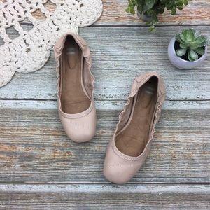 Toms | Gisele Scrunch Leather Ballet Flats